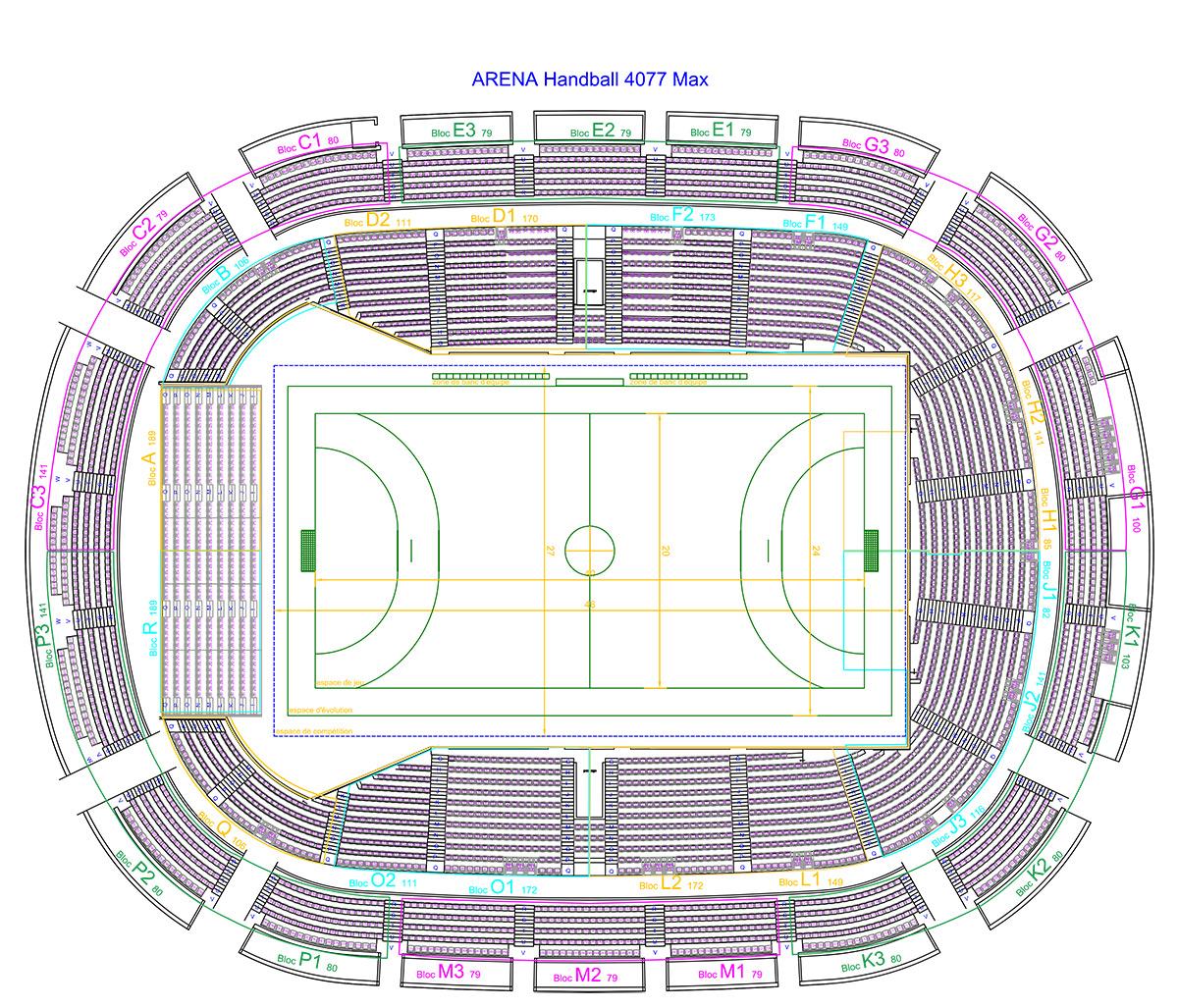 Brest Arena plan salle de sport